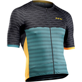 Northwave Storm Maillot Manches courtes Homme, black/green forest
